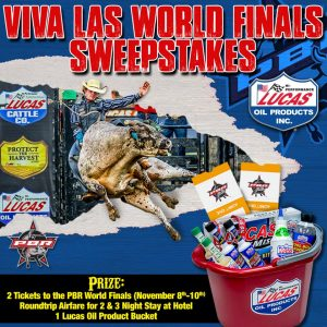 Lucas Oil – Win a VIP trip for 2 to the PBR World Finals in Las Vegas
