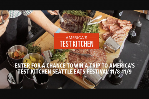 AT&T – Atk Seattle Eats Festival – Win a trip to the ATK Seattle Eats Festival for Winner and one guest to Seattle