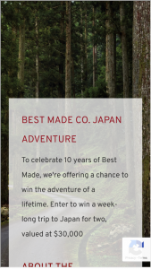 Best Made Co – The Japan Adventure Sweepstakes