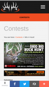 Buckmasters – Ohio Big Buck Hunt Giveaway Sweepstakes