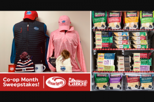 Cabot Creamery – Ocean Spray Co-Op Month – Win $300 Ocean Spray prize pack (ARV $300) A Year's Supply of Cabot Cheese (ARV $550) Delivered in four quarterly shipments of 25 pounds each