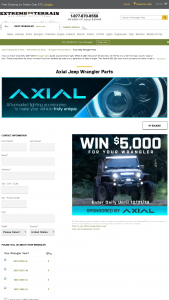 Extreme Terrain – Axial $5000 Giveaway – Win $5000.00 in credit to use for the purchase of any parts and accessories available at extremeterraincom