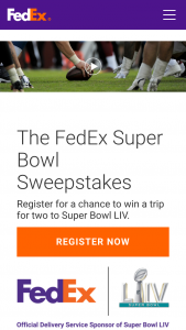 Fedex – Super Bowl Sweepstakes
