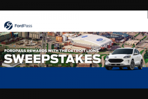 Ford – Fordpass Rewards Detroit Lions – Win 1000 FordPass Rewards Points