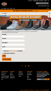 Harley-Davidson – 2019 Riding Sneakers Giveaway – Win a pair of riding sneakers