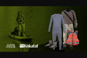 Kayak Angler – Full Fishing Set Up From Kokatat Giveaway – Win one Kokatat SuperNova Angler Semi Drysuit