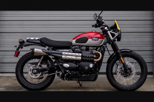 Macy's – Barbour International Motorcycle – Win a Prize consisting of (1) 2019 Triumph Street Scrambler Motorcycle with a bespoke paint design in Korosi Red & Aluminum Silver