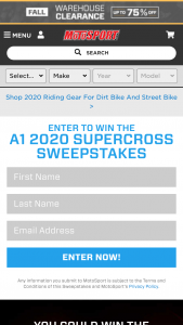 Motosport – 2020 Supercross – Win Two tickets and pit passes to A1 Supercross