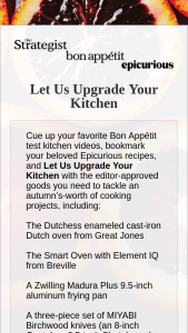New York Media Bon Appétit – Let Us Upgrade Your Kitchen Sweepstakes