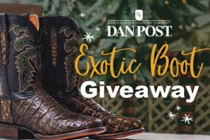 "One Country – Dan Post Exotic Boot Fall Giveaway – Win (1) pair of Exotice Leather Boots (""Prize"")."