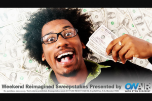 "Ryan Seacrest – Weekend Reimagined – Win check in the amount of five thousand dollars ($8000.00) made payable to the Winner (Approximate Retail Value (""ARV"") $8000.00)."