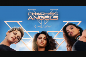 Sony Electronics – Charlie's Angels Giveaway – Win Sweepstakes entry