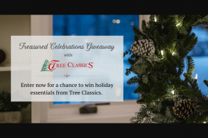 Tree Classics – 2019treasured Celebrations Giveaway – Win a Tree Classics artificial Christmas tree