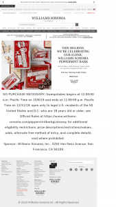 "Williams-Sonoma – A Chance To Win With Every Tin – Win a $25 VISA gift card (Approximate Retail Value (""ARV"") $40000)."