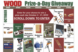 Wood Magazine – Prize-A-Day Sweepstakes