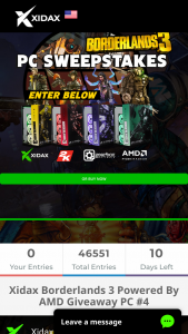 Xidax – Borderlands 3 Powered By Amd Giveaway PC #4 Sweepstakes