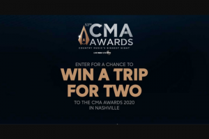 ABC – Cma Awards – Win one (1) Grand Prize a 3-day/2-night trip for the Grand Prize Winner and a guest to Nashville