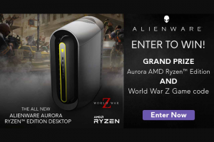 Alienware – Aurora Amd Ryzen Edition PC & World War Z Game Code – Win one (1) World War Z game product activation key