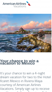 American Airlines – Vacation To Mexico Sweepstakes