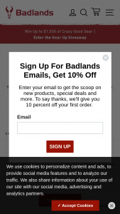 Badlands – Gear Up Giveaway Sweepstakes