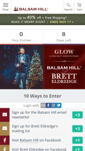 Balsam Hill – Glow A Holiday Sweepstakes