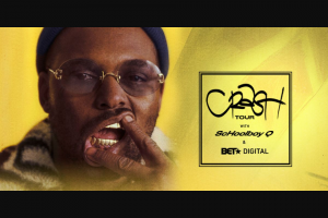 Black Entertainment Television – Schoolboy Q Los Angeles Vip Getaway – Win one double occupancy standard hotel room for two nights/three days and tickets for winner and guest for admission to the Concert