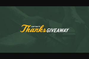 Carhartt – 2019 Thanksgivaway – Win form 1099 and