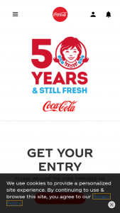 Coca-Cola – Wendy's 50th Birthday Instant Win Sweepstakes
