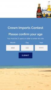 Crown Imports – Corona Big Game Beach Side Sweepstakes