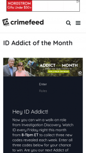 Discovery Communications Addict Of The Month Win A Walk On