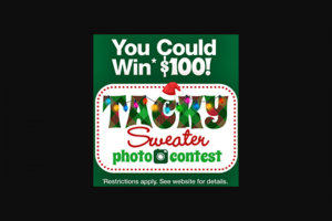 Dollar Tree – Best Diy Tacky Christmas Sweater Photo Contest – Win one $100 Dollar Tree gift card