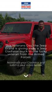 FCA Us Llc – Jeep Gladiator To Gladiator Contest – Win Jeep Gladiator Rubicon including sales tax registration and transfer fees