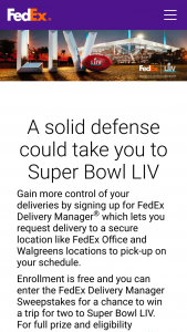 Fedex – Delivery Manager Sweepstakes