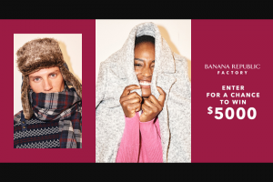 Gap – Banana Republic Factory Style Sweepstakes