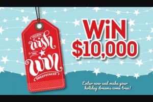 Gatehouse Media – Holiday Wish And Win Sweepstakes
