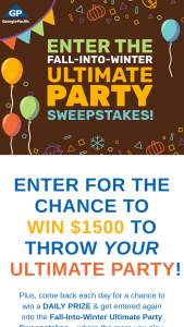 Georgia-Pacific – Ultimate Party Giveaway Sweepstakes