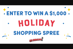 Gobowlingcom – Holiday Shopping Spree – Win a $1000 Macy's Gift Card