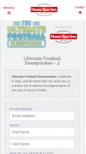 Home Run Inn Frozen Foods – Ultimate Football Sweepstakes