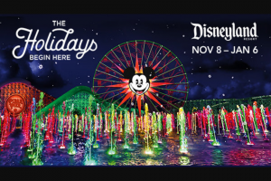 Iheart – Ellen K Weekend Show Holiday Party Flyaway 2019 – Win a 3-Day/2-Night Vacation Package for the winner and up to three eligible guests to the Disneyland Resort in Anaheim