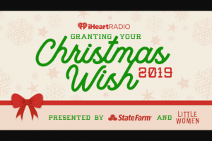 Iheart – Granting Your Christmas Wish 2019 Contest – Win essay Prize value will be no less than $1000 and will not exceed $5000 Total overall prize value shall not exceed $149000.