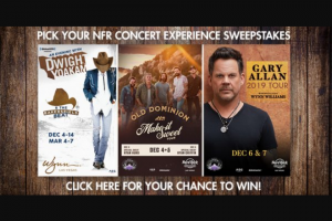 Iheart – Pick Your Nfr Concert Experience – Win and ARV and such difference will be forfeited