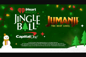Iheartmedia – Jingle Ball Adventure Of Your Choice – Win winner will receive only one (1) of the Grand Prizes listed below depending on the Jingle Ball Adventure that was selected at the time of entry