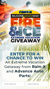 ITW Global Brands And Rainx – 2019 Fire & Ice Extreme Vacation Giveaway – Win be awarded a trip for (2) to a Sponsor-selected city in one of the (48) contiguous United States