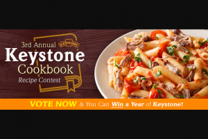 Keystone Meats – Cookbook – Win 52 cans of various Keystone Meats products approximate value $500.00.