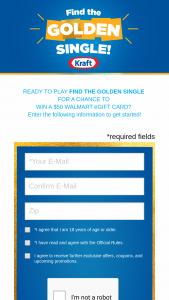 Kraft Heinz – Golden Singles Program – Win one $50 Walmart eGift Card