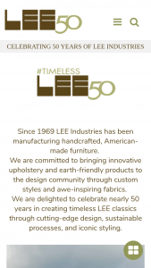 Lee Industries – 50th Anniversary Giveaway Sweepstakes