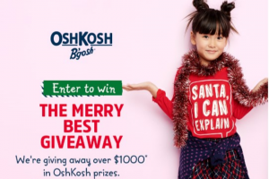 Macaroni Kid – Oshkosh Cheer Holiday Giveaway Sweepskes – Win OshKosh B'gosh Holiday Pjs – (5) Winners at $25 Retail Value