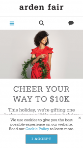 "Macerich – Cheer Your Way To $10k – Win a Ten Thousand Dollar ($10000) check made payable to the winner (the ""Prize"")."