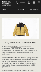 Mast Store – Stay Warm With Thermoball Eco Sweepstakes