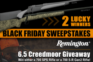 Midwayusa – Black Friday Remington 6.5 Creedmoor – Win a prize pack consisting of First Prize – MidwayUSA gift certificate for the retail value of a Remington 700 5-R Gen 2 Rifle